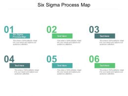 Six Sigma Process Map Ppt Powerpoint Presentation Visual Aids Ideas Cpb