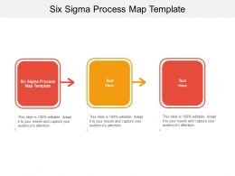 Six Sigma Process Map Template Ppt Powerpoint Presentation Gallery Clipart Cpb