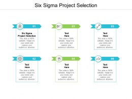 Six Sigma Project Selection Ppt Powerpoint Presentation Diagram Lists Cpb
