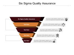 Six Sigma Quality Assurance Ppt Powerpoint Presentation Layouts Slide Cpb
