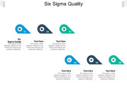 Six Sigma Quality Ppt Powerpoint Presentation Slides Background Cpb