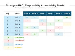 Six Sigma RACI Responsibility Accountability Matrix