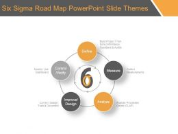 Six Sigma Road Map Powerpoint Slide Themes