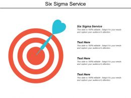 Six Sigma Service Ppt Powerpoint Presentation Model Graphic Images Cpb