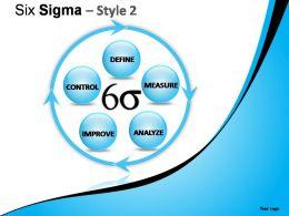Six Sigma Style 2 Powerpoint Presentation Slides