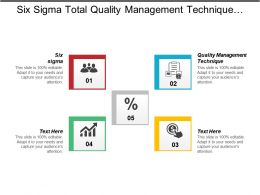 Six Sigma Total Quality Management Technique Customer Management System