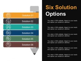 Six Solution Options Presentation Background Images
