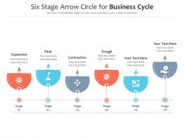 Six Stage Arrow Circle For Business Cycle