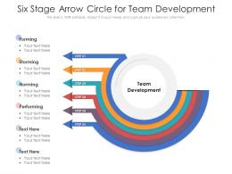 Six Stage Arrow Circle For Team Development