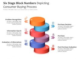 Six Stage Block Numbers Depicting Consumer Buying Process