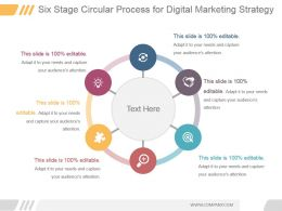 Six Stage Circular Process For Digital Marketing Strategy Ppt Slide Show