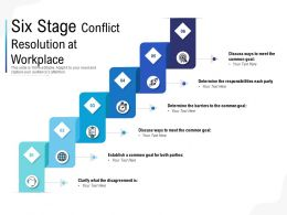Six Stage Conflict Resolution At Workplace