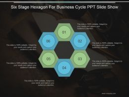 Six Stage Hexagon For Business Cycle Ppt Slide Show