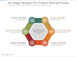 Six Stage Hexagon For Problem Solving Process Ppt Slide