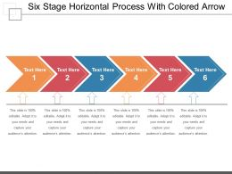 Six Stage Horizontal Process With Colored Arrow