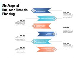 Six Stage Of Business Financial Planning
