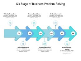 Six Stage Of Business Problem Solving