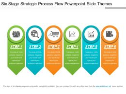 Six Stage Strategic Process Flow Powerpoint Slide Themes