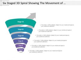 Six Staged 3d Spiral Showing The Movement Of Business Process