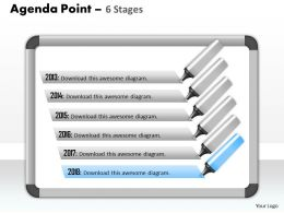 Six Staged Agenda Process Display Diagram 0214
