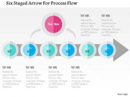 Six Staged Arrow For Process Flow Flat Powerpoint Design