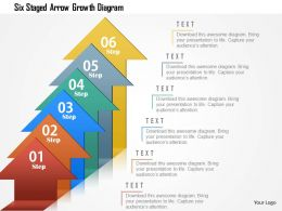 Six Staged Arrow Growth Diagram Powerpoint Template