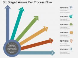 Six Staged Arrows For Process Flow Flat Powerpoint Design