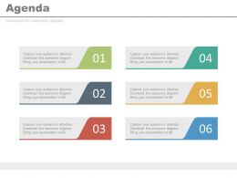 Six Staged Business Agenda And Sales Growth Steps Powerpoint Slides