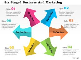 Six Staged Business And Marketing Flat Powerpoint Design