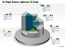 Six Staged Business Application Pie Graph Powerpoint Template