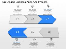 Six Staged Business Apps And Process Powerpoint Template Slide