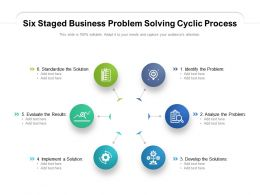 Six Staged Business Problem Solving Cyclic Process