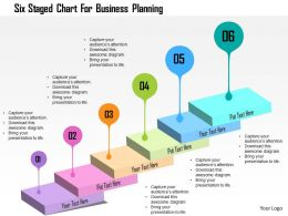 Six Staged Chart For Business Planning Flat Powerpoint Design