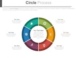 Six Staged Circle For Business Process Powerpoint Slides