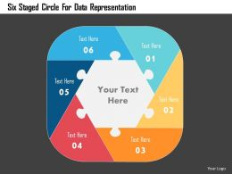 Six Staged Circle For Data Representation Flat Powerpoint Design