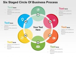 Six Staged Circle Of Business Process Flat Powerpoint Design