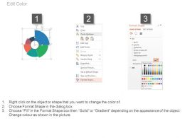 Six Staged Circle Pie Chart With Percentage Powerpoint Slides
