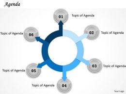 Six Staged Circular Agenda Display Diagram 0214