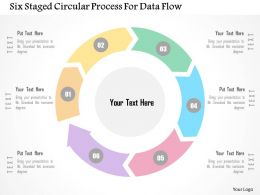 six_staged_circular_process_for_data_flow_flat_powerpoint_design_Slide01