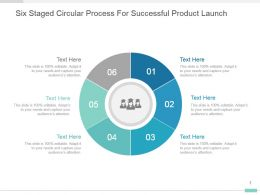 Six Staged Circular Process For Successful Product Launch Ppt Design