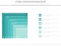 Six Staged Cubes And Icons Diagram Powerpoint Slides