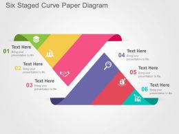 six_staged_curve_paper_diagram_flat_powerpoint_design_Slide01