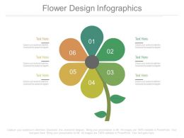 Six Staged Flower Design Infographics Flat Powerpoint Design