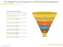 Six Staged Funnel Process For Performance Management Ppt Samples