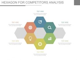 Six Staged Hexagon For Competitors Analysis Flat Powerpoint Design