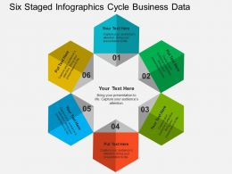Six Staged Infographics Cycle Business Data Flat Powerpoint Design