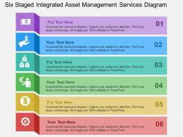 Six Staged Integrated Asset Management Services Diagram Flat Powerpoint Design