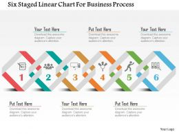Six Staged Linear Chart For Business Process Flat Powerpoint Design