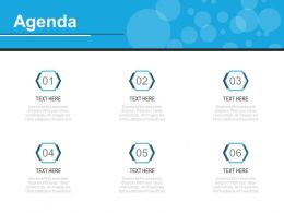 Six Staged Marketing Agenda Analysis Diagram Powerpoint Slides