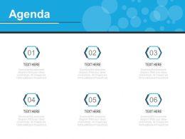 Six Staged Marketing Agenda Analysis Diagram Powerpoint Slides